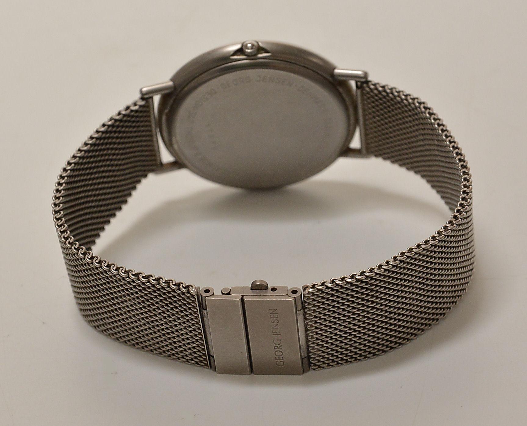 Torsten Thorup & Claus Bonderup for Georg Jensen. Gentleman's wristwatch of steel