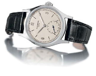 Patek Philippe. A fine and rare stainless steel water-resistant wristwatch