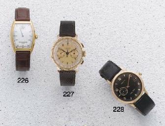 Longines: A Pink Gold Chronograph Wristwatch