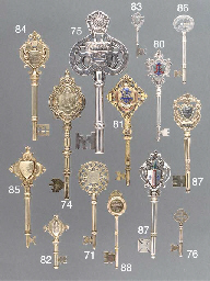 Six Various Silver and Metalware Presentation Keys