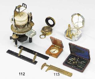 Four various compasses,
