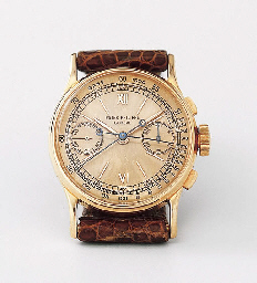 PATEK PHILIPPE, A FINE AND EXCEPTIONALLY RARE 18K PINK GOLD WRIST WATCH WITH SPLIT-SECOND CHRONOGRAPH