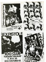Vintage never trust a HippySex Pistols rock original Poster  1462