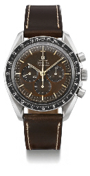 Omega. A rare stainless steel water-resistant chronograph wristwatch