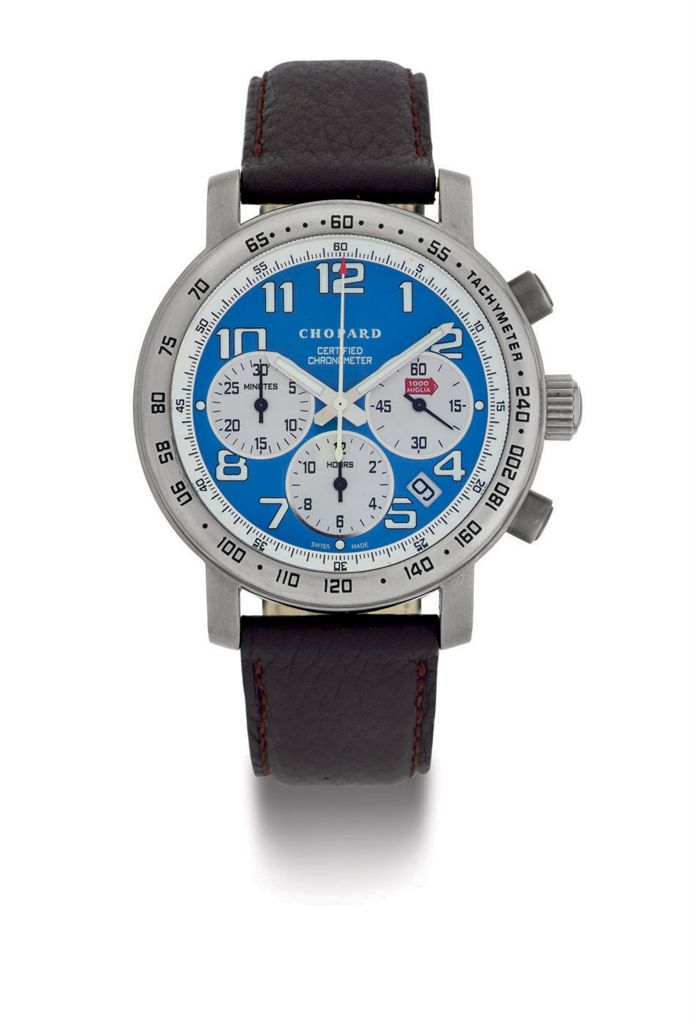 CHOPARD.  A LIMITED EDITION TITANIUM AUTOMATIC CHRONOGRAPH WRISTWATCH WITH DATE