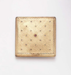 A DIAMOND, RUBY AND ROSE GOLD VANITY CASE, BY MARIO BUCCELLATI