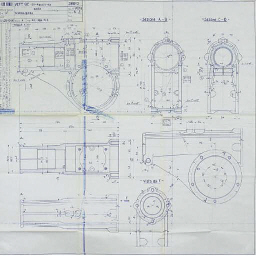 Alfa Romeo 8C - A group of five factory-copy blueprints for the Type 8C-2300 models, showing various detail components including dashboard layout. 	 (5)