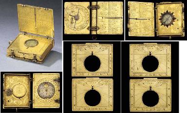 A fine mid 16th-Century gilt-brass astronomical compendium,