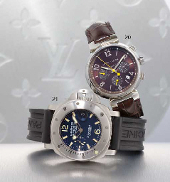 PANERAI. A STAINLESS STEEL CUSHION-SHAPED AUTOMATIC WRISTWATCH WITH DATE