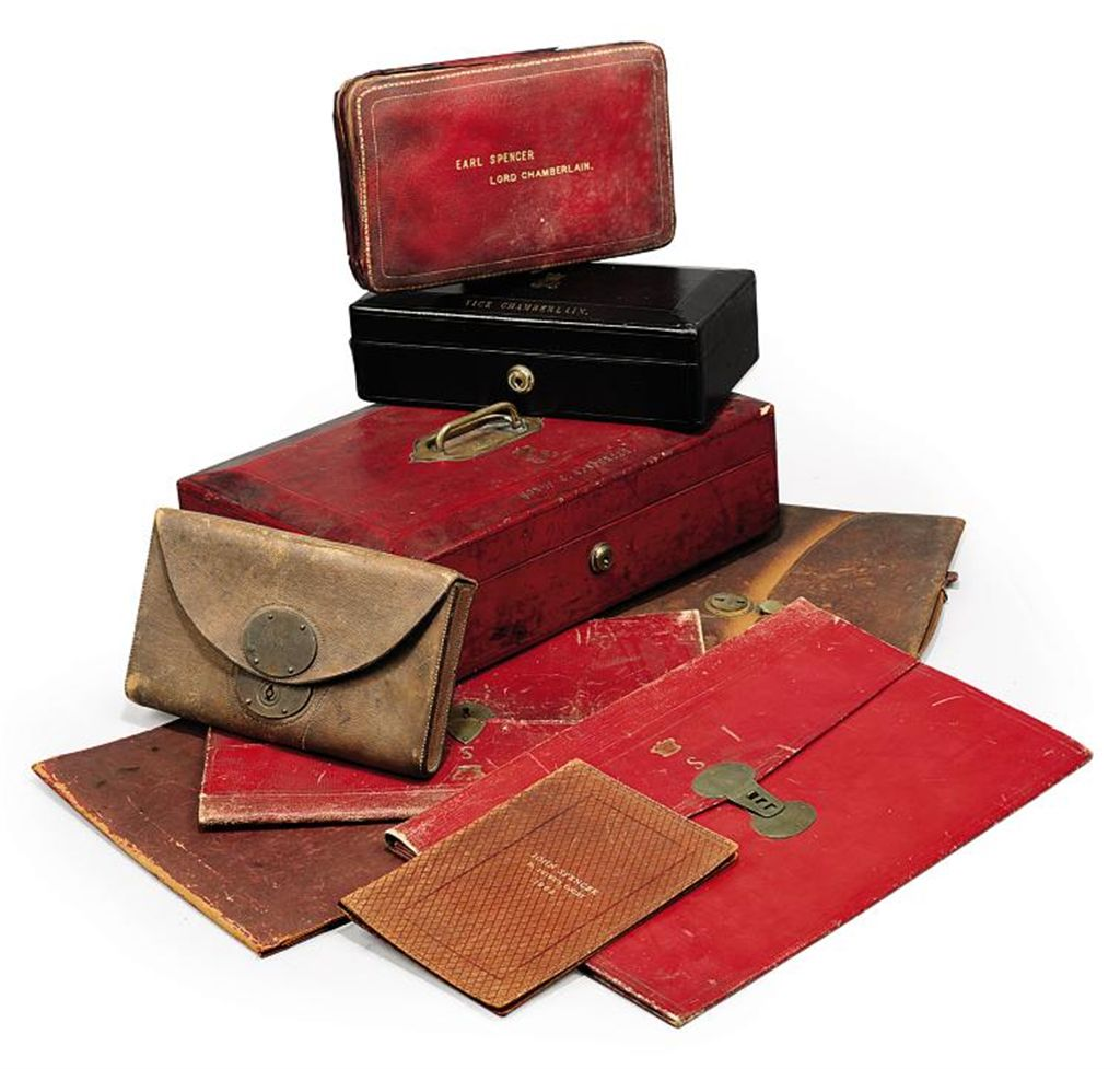 A COLLECTION OF VICTORIAN AND EDWARDIAN SPENCER FAMILY DOCUMENT BOXES AND WALLETS