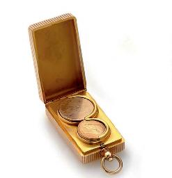 A gold coin case