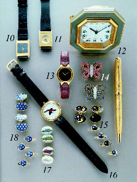 Ebel. A lady's 18K gold and gem-set wristwatch