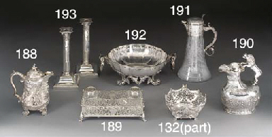 A Victorian Silver Inkwell