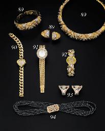 "A DIAMOND, HEMATITE AND 18K GOLD ""CASMIR"" WRISTWATCH, BY CHOPARD"