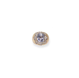 A SAPPHIRE AND DIAMOND RING, BY BUCCELLATI