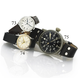 LONGINES. A STAINLESS STEEL SINGLE-BUTTON CHRONOGRAPH WRISTWATCH