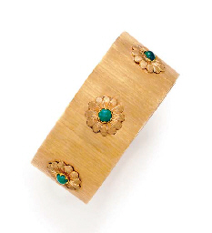 A GOLD AND TURQUOISE BRACELET, BY BUCCELLATI