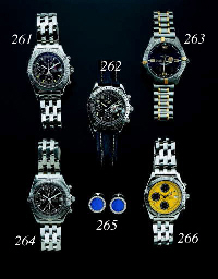 BREITLING. A STAINLESS STEELCHRONOGRAPH SELF WINDING GENTLEMAN'S WRISTWATCH