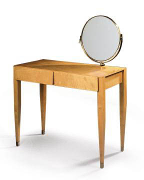 AN ART DECO SATINBIRCH DRESSING-TABLE