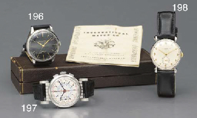 Breitling. A stainless steel chronograph wristwatch with unusual moveable lugs