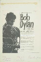 BOB DYLAN ORIGINAL CONCERT POSTER ARTWORK