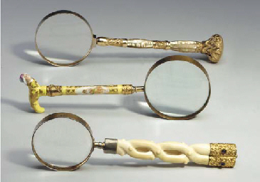 THREE MAGNIFYING GLASSES**,