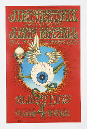 JIMI HENDRIX CONCERT POSTER BY RICK GRIFFIN