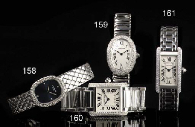 A LADY'S 18K WHITE GOLD AND DIAMOND WRISTWATCH, BY PATEK PHILIPPE