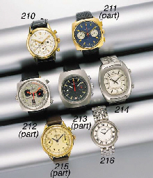 Breitling. A lot of one stainless steel and gilt and one stainless steel chronograph wristwatches