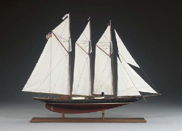 A Model of the Schooner Yacht Atlantic