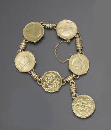 A GOLD COIN BRACELET