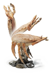 A VENETIAN POLYCHROME DECORATED CRAB-FORM CHAIR