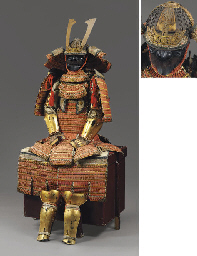 An Orange-Laced Domaru Suit of Armor