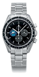 Omega. A fine stainless steel limited edition chronograph wristwatch with bracelet