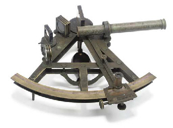 A MID 19TH-CENTURY 8IN. RADIUS DOUBLE-FRAMED VERNIER SEXTANT BY CRICHTON
