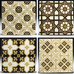 Seventeen Minton Tiles
