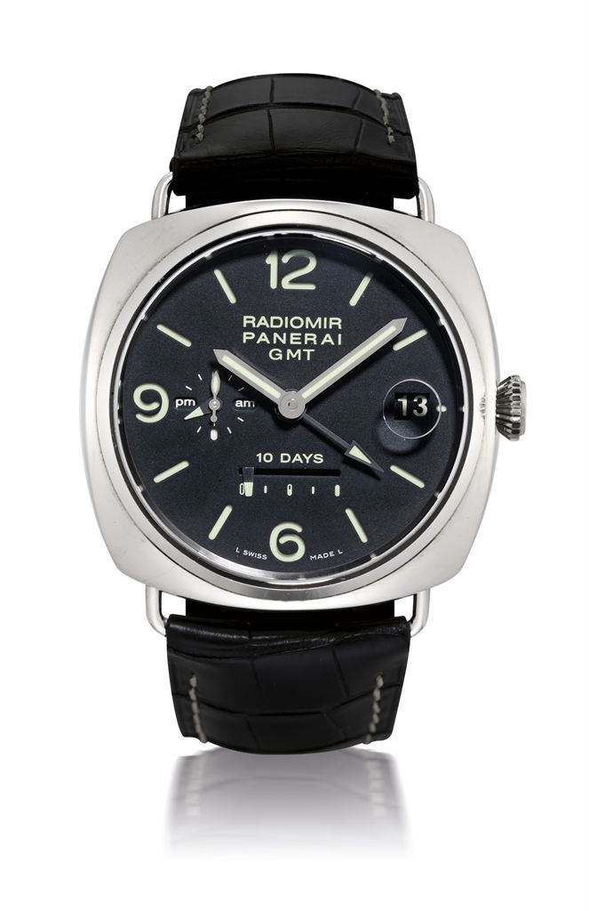 PANERAI, RADIOMIR 10 DAYS GMT, REF. PAM00235WHITE GOLD AUTOMATIC 10-DAY-GOING WRISTWATCH WITH POWER RESERVE INDICATION, LIMITED PRODUCTION OF 250