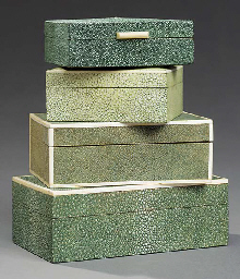 A Shagreen and Ivory covered Cigar Box