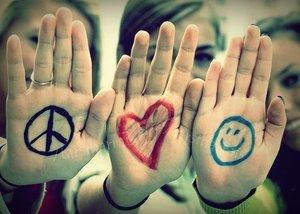 Paz amor e felicidade