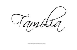 Familia frase para tatuagem
