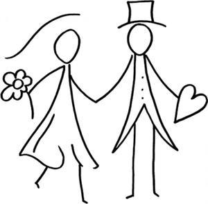 Desenhos para colorir de casamento