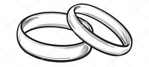 Depositphotos 136928282 stock illustration pair of traditional wedding rings