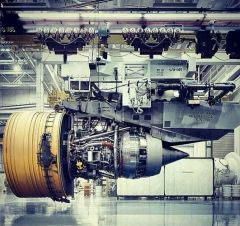 Massive Engine Of The Boeing 777