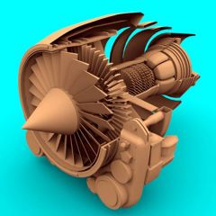 Beautiful Jet Engine Design