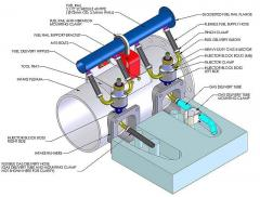 Dual fuel (diesel / CNG) systems for 9-cylinder, 3000 kW (5000 hp)..