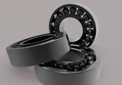 Radial ball bearings without cage