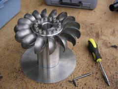 Pelton wheel turbine rotor.jpg