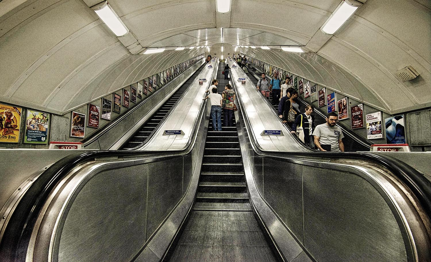 Escalators in London, Underground