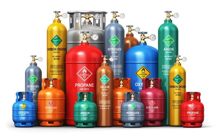 Why gas containers are mostly cylindrical in shape?
