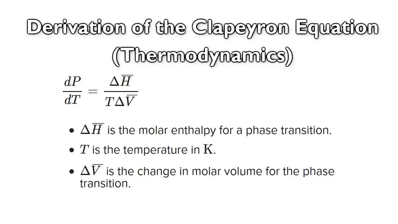 What is clapeyron equation & when it is useful?